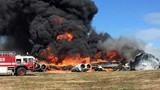 Chùm ảnh B-52 rơi ở Guam, bốc cháy ngùn ngụt