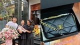 Mẹ vợ Bùi Tiến Dũng mua túi hiệu tặng quà 8/3 sớm cho con gái