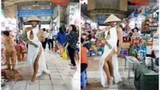 Video: Chàng trai đi catwalk đẹp hơn siêu mẫu đại náo chợ Bến Thành
