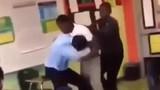 Video: 2 thầy trò đánh nhau như phim hành động trong lớp học