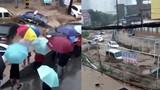 Video: Bất lực nhìn hàng loạt ô tô trôi lềnh bềnh theo dòng lũ