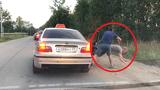 Video: Ném rác ra đường, khách nam bị tài xế taxi quẳng ra khỏi xe