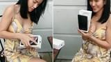 """Video: Gái xinh đập hộp Iphone XS Max khiến người xem """"đứng tim"""""""