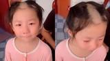 Cô bé 5 tuổi bắt chước clip cắt tóc trên mạng và cái kết