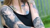 Người phụ nữ xăm hình rapper Eminem khắp cơ thể