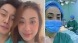 Miko Lan Trinh túc trực bên bạn trai phẫu thuật cắt ngực