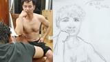 Con trai nghệ sĩ Xuân Bắc trổ tài vẽ bố và cái kết