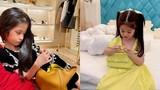 3 rich kid nhà Đoàn Di Băng: Lấy đồ hiệu làm đồ chơi từ nhỏ