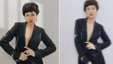 Hoa hậu Ngọc Hân để tóc tém, mặc táo bạo gây bất ngờ