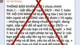 """""""TP.HCM phong tỏa 14 ngày chống Covid-19"""" là tin bịa đặt"""