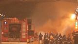 Khói lửa tạm làm tê liệt hầm Thủ Thiêm