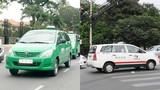 """Công an phường TP HCM """"quảng cáo"""" cho taxi Vinasun, Mai Linh?"""