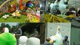 Ngắm linh vật gà khổng lồ sắp xuống đường hoa Nguyễn Huệ
