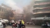 Cháy lớn trên phố cổ HN, cảnh sát dùng nước hồ Gươm chữa cháy