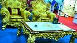 Choáng ngợp sofa dát vàng hơn nửa tỷ của đại gia Hà Nội