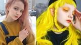 """""""Hoa mắt"""" với màu tóc nhuộm thay đổi hàng tuần của người mẫu Nga"""