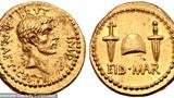 """""""Độc lạ"""" đồng xu vàng ròng in hình hung thủ ám sát tướng La Mã"""