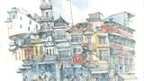 Ký họa tuyệt vời về Việt Nam của nữ họa sĩ Mỹ (1)