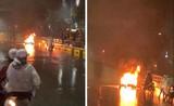 Va chạm khiến cháy xe máy, tài xế ôtô bỏ chạy... lĩnh án gì?