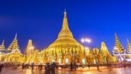 Độc đáo chùa có tháp vàng đính hàng nghìn viên kim cương, đá quý