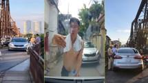 Lái xe ô tô say rượu gây náo loạn tại cầu Long Biên