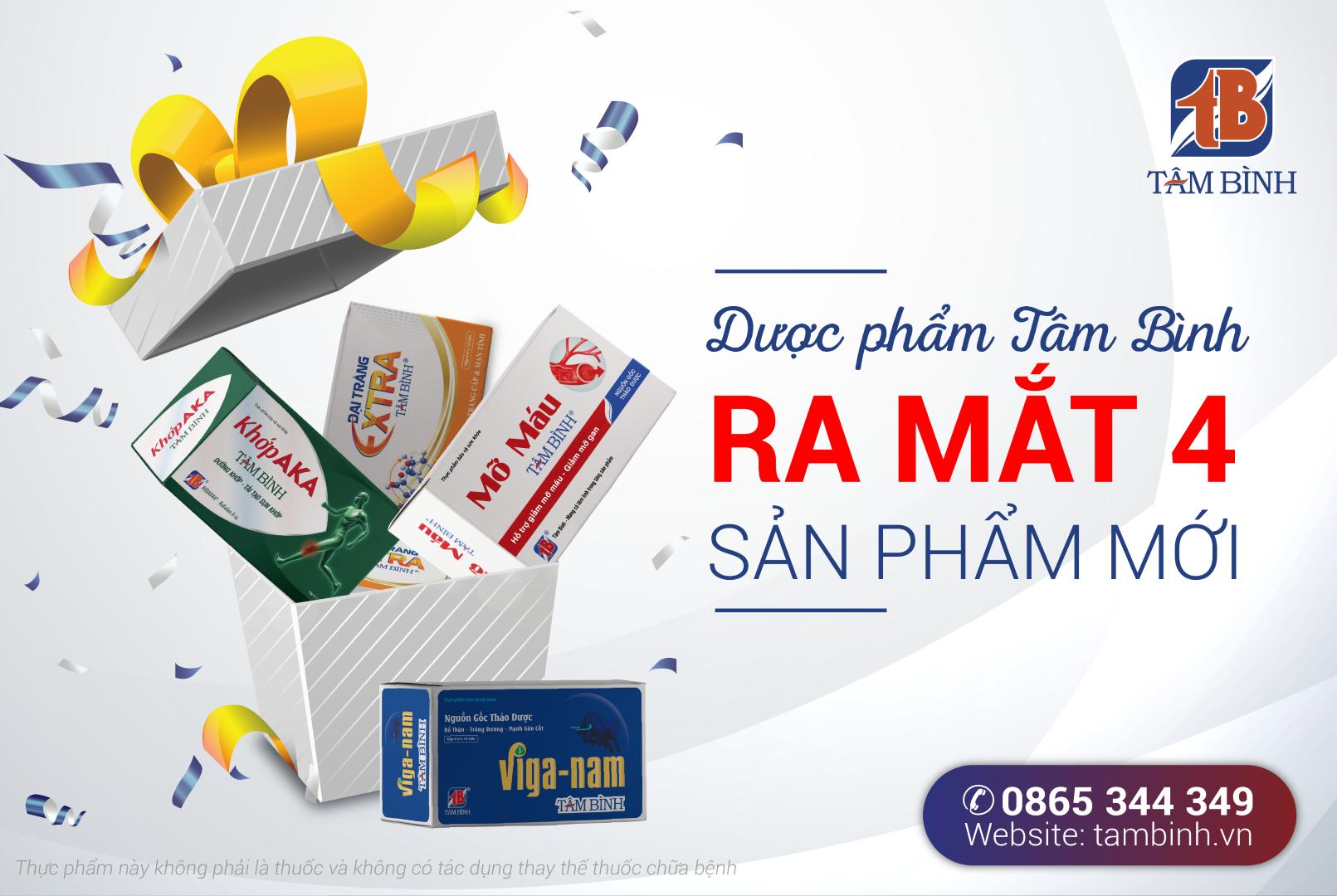 Công ty Dược phẩm Tâm Bình ra mắt 4 sản phẩm mới
