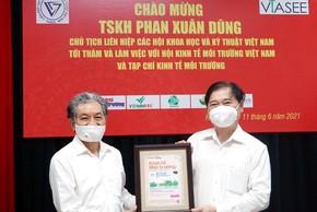 TSKH Phan Xuân Dũng làm việc với TW Hội Kinh tế Môi trường Việt Nam