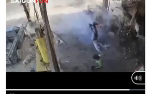 Video: Lốp xe ô tô phát nổ kinh hoàng, chủ gara tử vong tại chỗ