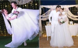 Quý Bình bế bổng vợ đại gia trong tiệc báo hỷ tại Phú Quốc