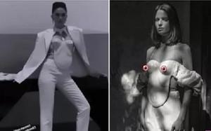 Ngọc Trinh mặc áo mô phỏng vòng 1 phụ nữ gây choáng