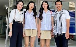 Hai con gái MC Quyền Linh xinh đẹp, cao vượt bố mẹ