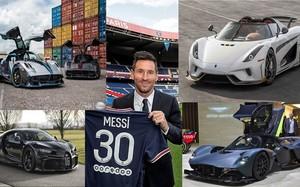 Một tháng lương của Messi tại PSG tậu được bao nhiêu siêu xe?