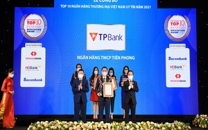 Vinh danh TPBank trong Top 10 ngân hàng thương mại Việt Nam uy tín