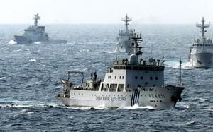 """Ba tàu Trung Quốc """"lởn vởn"""" gần đảo tranh chấp Senkaku/Điếu Ngư"""