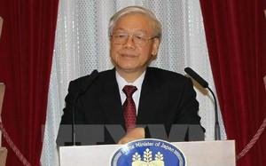 Tổng Bí thư Nguyễn Phú Trọng gặp gỡ Chủ tịch đảng Dân chủ Nhật Bản