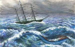 """Bí ẩn về loài """"rắn biển khổng lồ"""" ở vịnh Along"""