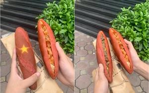 """Món bánh mì Tổ quốc có hình ngôi sao vàng """"sốt xình xịch"""""""