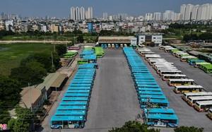 Hàng trăm xe buýt ở Hà Nội chờ ngày lăn bánh trở lại