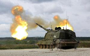 Ukraine bất ngờ kéo hàng đàn pháo tự hành 152mm tới Donbass