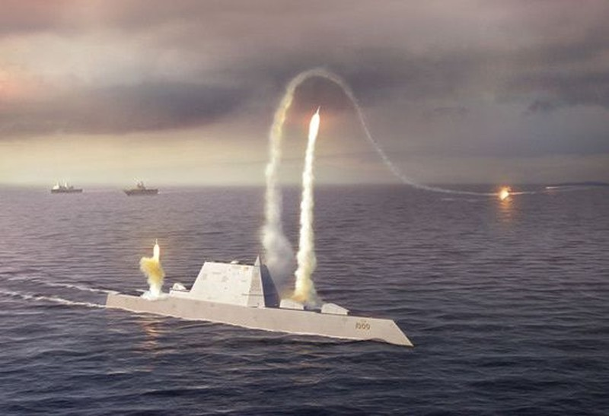 Mỹ sẽ triển khai tên lửa siêu vượt âm trên tàu khu trục Zumwalt