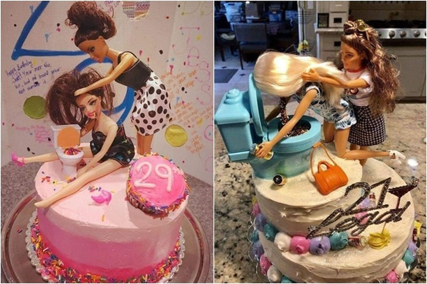 """Chết cười bánh sinh nhật """"lầy lội"""" dành cho hội chị em bạn dì"""