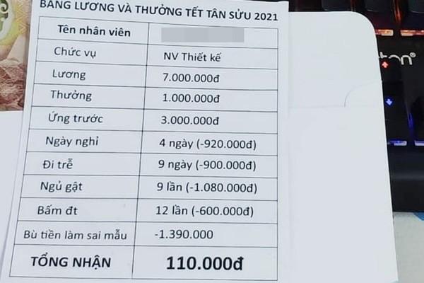 Thưởng Tết 6 triệu bỗng chốc co lại chỉ còn 120 nghìn đồng ?