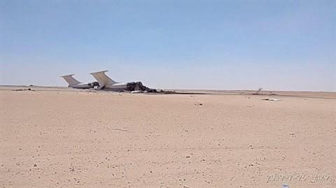 UAV pha huy 2 may bay Il-76 Ukraine tai Lybia