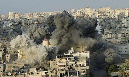 """Israel-Hamas doi dau, Dai Gaza hung du """"mua bom bao dan""""-Hinh-3"""