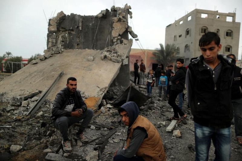 Hinh anh Dai Gaza ruc lua, Israel pha nat dai truyen hinh Hamas-Hinh-15