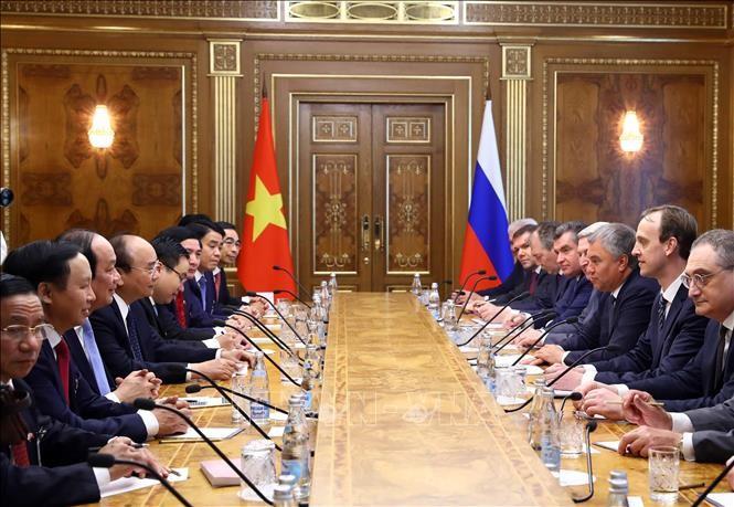 Thu tuong Nguyen Xuan Phuc hoi kien Chu tich Duma quoc gia Nga-Hinh-2