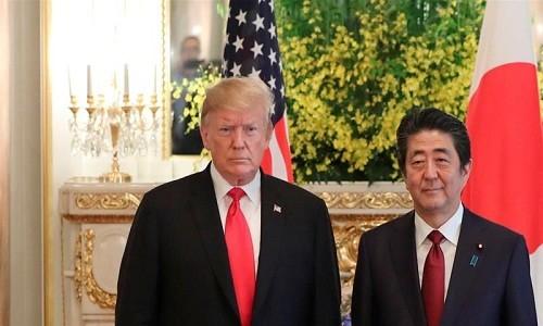 Gap Thu tuong Nhat, Tong thong Trump tuyen bo bat ngo ve Iran