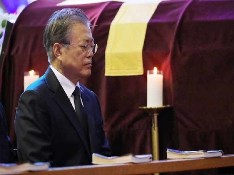 Ong Kim Jong-un chia buon viec me Tong thong Han Quoc qua doi