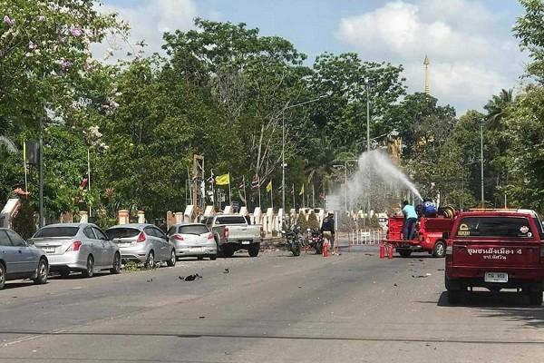 18 nguoi bi thuong trong vu no bom o mien Nam Thai Lan