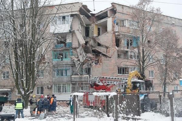 Ukraine: No khi gas tai chung cu o Kiev, nhieu nguoi bi mac ket